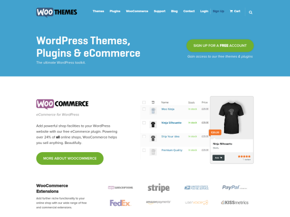 WooThemes homepage