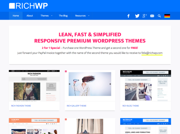 Homepage di RichWP