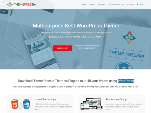 ThemeFreesia homepage