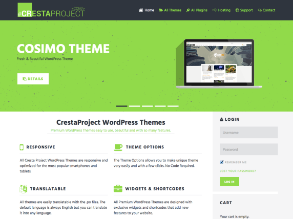 Cresta Project homepage