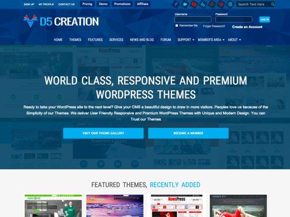 D5 Creation home page