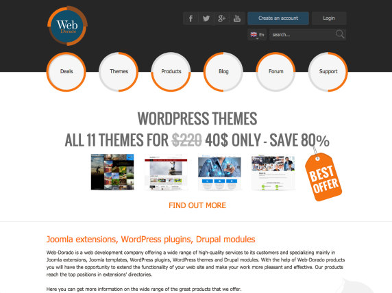 Web-Dorado homepage