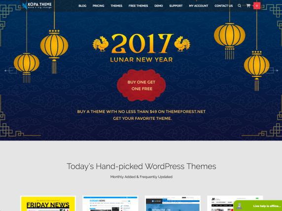 Kopatheme homepage