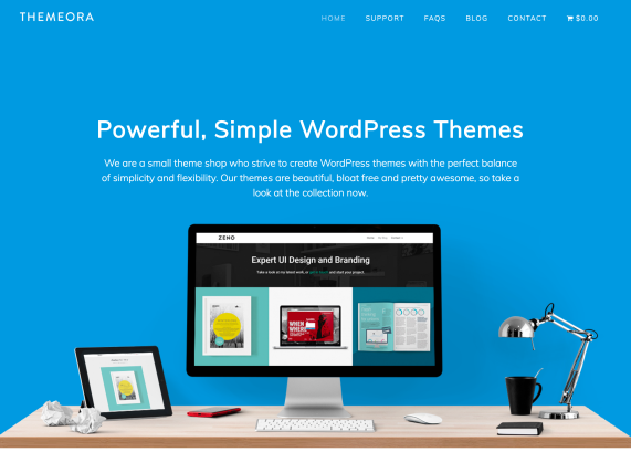 Themeora home page