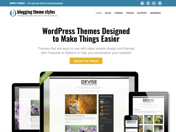 Blogging Theme Styles હોમપેજ