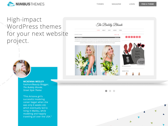 Nimbus Themes home page